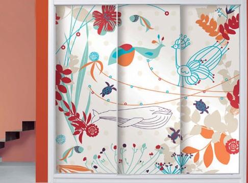 Colourful Design Sliding Door