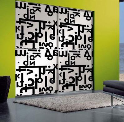 Black and White Design Sliding Door