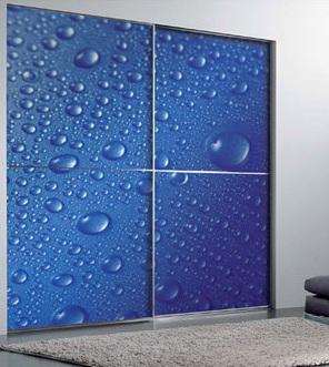 Blue Shade Cool Sliding Door